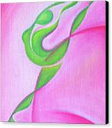 Dancing Sprite In Pink And Green Canvas Print by Tiffany Davis-Rustam