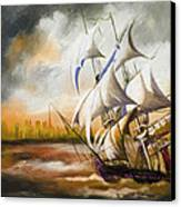 Dangerous Tides Canvas Print by Corporate Art Task Force
