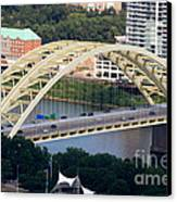 Daniel Carter Beard Bridge Cincinnati Ohio Canvas Print by Paul Velgos
