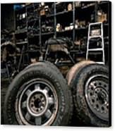 Dark Old Garage Canvas Print by Amy Cicconi