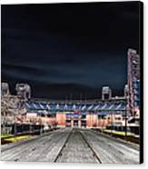 Dark Skies At Citizens Bank Park Canvas Print by Bill Cannon
