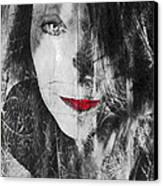 Dark Thoughts Canvas Print by Linda Sannuti