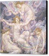Daughters Of The Mist Canvas Print by Evelyn De Morgan