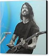 'dave Grohl' Canvas Print by Christian Chapman Art