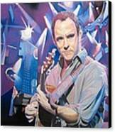 Dave Matthews And 2007 Lights Canvas Print by Joshua Morton