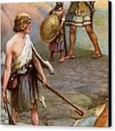 David And Goliath Canvas Print by Arthur A Dixon