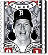 Dcla Carlton Fisk Fenway's Finest Stamp Art Canvas Print by David Cook Los Angeles