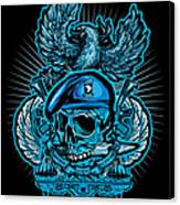 Dcla Skull Airborne All The Way Canvas Print by David Cook Los Angeles
