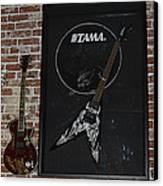 Death By Stereo Band Memorabilia-autographed Guitar Canvas Print by Renee Anderson