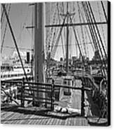 Deck Of Balclutha 3 Masted Schooner - San Francisco Canvas Print by Daniel Hagerman