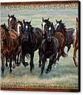 Deco Horses Canvas Print by JQ Licensing