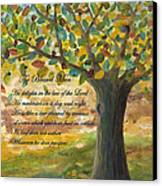 Deep Roots-with Scripture Canvas Print by Mona Elliott