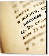 Definition Of Success Canvas Print by Konstantin Sutyagin