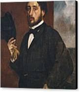 Degas, Edgar 1834-1917. Self-portrait Canvas Print by Everett