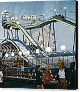 Del Mar Fair At Night Canvas Print by Mary Helmreich