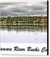 Delaware River Bucks County Canvas Print by Tom Gari Gallery-Three-Photography