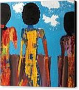 Demoiselles De Marrakesh Canvas Print by Omar Hafidi
