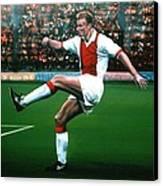 Dennis Bergkamp Ajax Canvas Print by Paul Meijering