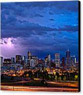 Denver Skyline Canvas Print by John K Sampson
