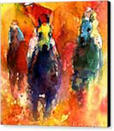 Derby Horse Race Racing Canvas Print by Svetlana Novikova