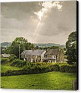 Derbyshire Cottages Canvas Print by Amanda And Christopher Elwell