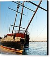 Derelict Faux Tall Ship Canvas Print by Trever Miller