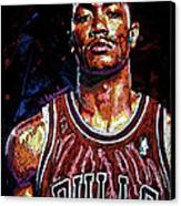 Derrick Rose-2 Canvas Print by Maria Arango