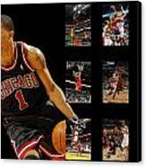Derrick Rose Canvas Print by Joe Hamilton