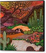 Desert Evening Canvas Print by Vivian Rayford