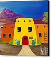 Desert Oasis Canvas Print by Carol Sabo