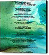 Desiderata 2 - Words Of Wisdom Canvas Print by Sharon Cummings