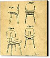 Designs For A Eames Chair Canvas Print by Edward Fielding