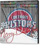 Detroit Pistons Canvas Print by Joe Hamilton