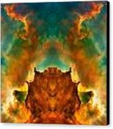 Devil Nebula Canvas Print by The  Vault - Jennifer Rondinelli Reilly