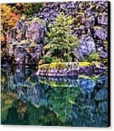 Diablo Lake Reflection Canvas Print by Benjamin Yeager