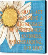 Dictionary Florals 4 Canvas Print by Debbie DeWitt