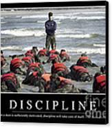 Discipline Inspirational Quote Canvas Print by Stocktrek Images