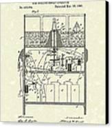 Display Apparatus 1890 Patent Art Canvas Print by Prior Art Design