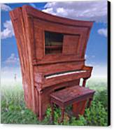 Distorted Upright Piano 2 Canvas Print by Mike McGlothlen