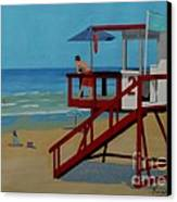 Distracted Lifeguard Canvas Print by Anthony Dunphy
