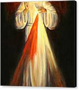 Divine Mercy Canvas Print by Sheila Diemert