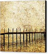 Dock Canvas Print by Skip Nall