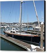 Docks At Sausalito California 5d22688 Canvas Print by Wingsdomain Art and Photography