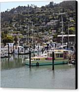 Docks At Sausalito California 5d22697 Canvas Print by Wingsdomain Art and Photography