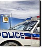 Dog River Police Car Canvas Print by Nicholas Kokil