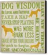 Dog Wisdom Canvas Print by Debbie DeWitt