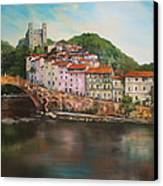 Dolceacqua Italy Canvas Print by Jean Walker
