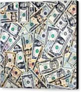 Dollar Background Canvas Print by Olivier Le Queinec