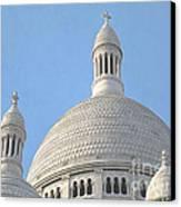 Dome Of Sacre-coeur Canvas Print by Ann Horn