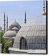 Domes Of Istanbul Canvas Print by Lutz Baar